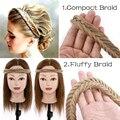 Пушистый богемный Плетеный ободок для волос Benehair, аксессуары для волос, синтетический шиньон с регулируемым поясом, шиньоны для женщин, обо...