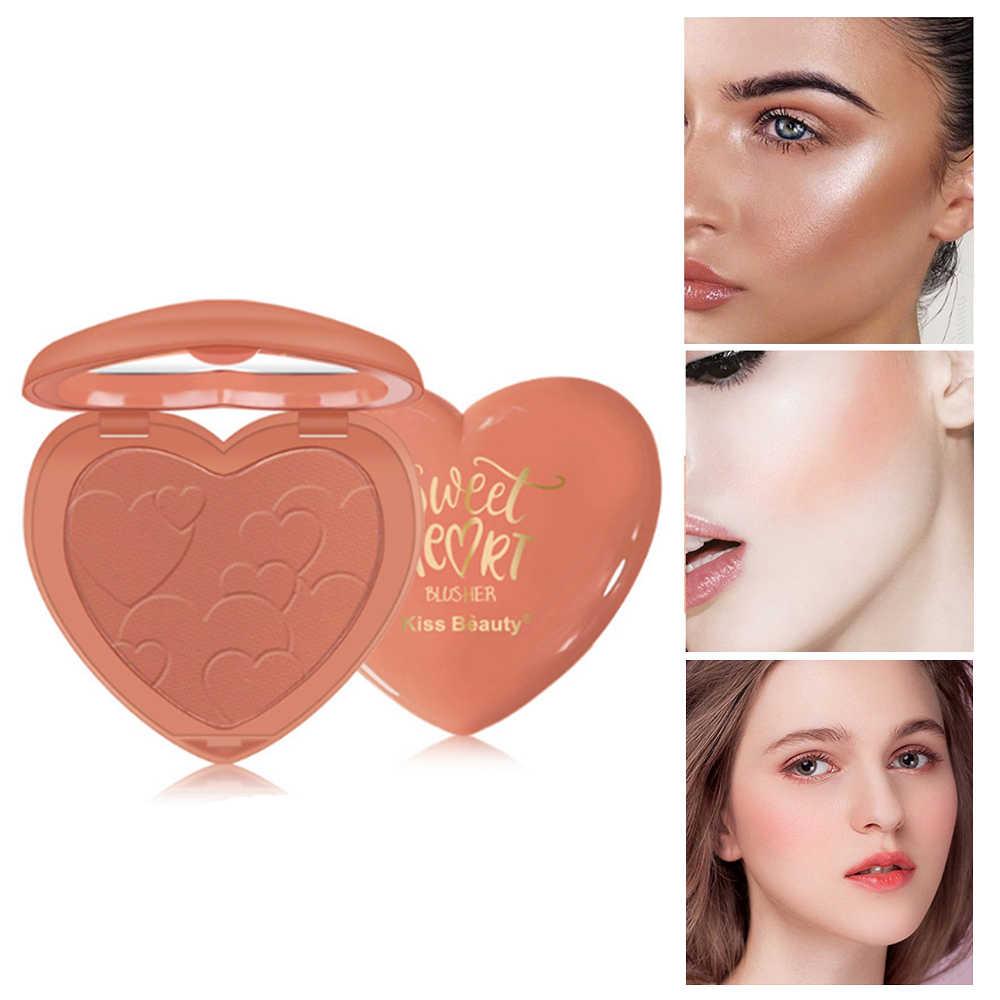 חדש נשיקה יופי 8 צבעים פנים סומק אבקה עמיד למים לאורך זמן מט סומק איפור אבקת קונטור אבקת חמוד סומק TSLM1