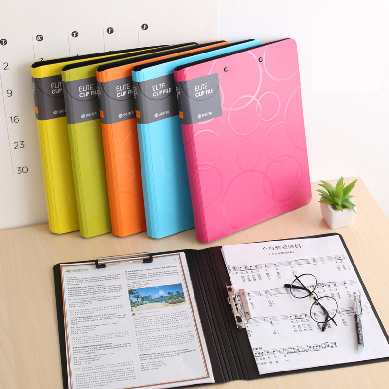 1PCS Office Supplies Korea A4 Student Papers WordPad Double Clamp PP Paper Organizer Paper Splint Writing Board Folder
