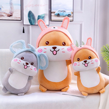 Hamster Soft Plush Toy Stuffed Animal Hamster Accessories Doll Pillow Creative Children Girls Ragdoll Gift ragdoll