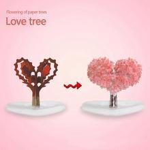 1 sztuk papieru drzewo kwiat drzewo miłości kryształ magiczne drzewo zabawki świąteczne zabawki drzewa drzewo magiczne nowości kryształowe drzewo rosnące Q6J4 tanie tanio Niedokończone Drewna