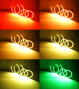 Image 4 - Para Toyota Corolla T24 facelift 2005 de 2006, 2007, excelente RF remoto Bluetooth APP Multi Color Ultra brillante RGB kit de luces LED Ojos de Ángel