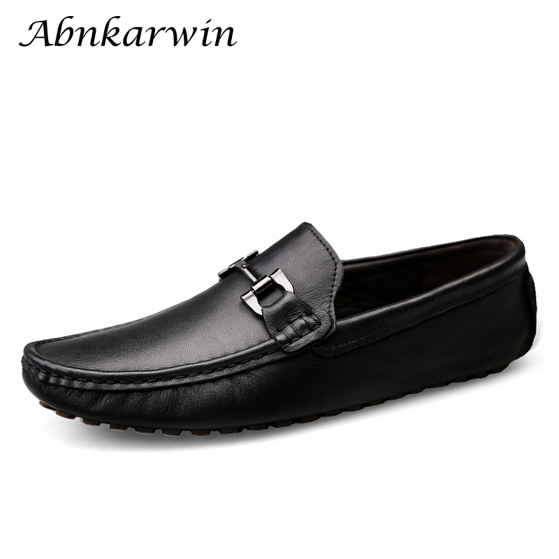 Genuine Leather Slip On Mens Loafers Casual Shoes Men Designer Lofer Man Mocasines Hot Sale Loafer Trend 2020 Loffers Low Lofars