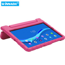 Case For Lenovo Tab M10 FHD Plus TB-X606F hand-held full body Non-toxic Safe EVA stand tablet cover for kids cheap winnada Protective Shell Skin 10 3 CN(Origin) Solid Fashion Drop resistance Anti-Dust Shockproof Soft