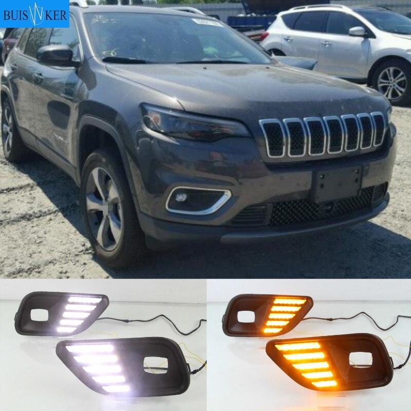 1Pair Daytime Running Light,Car Daytime Running Light DRL LED Daylight Fog Lamp for FJ Cruiser 09-13