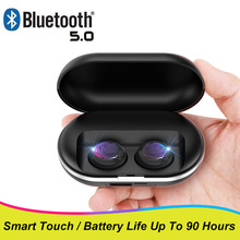 Smart Touch Wireless Headphones Bluetooth 5.0 Reverse Chargi