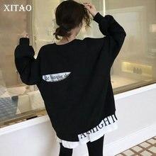 sweter Patchwork XITAO kobiet