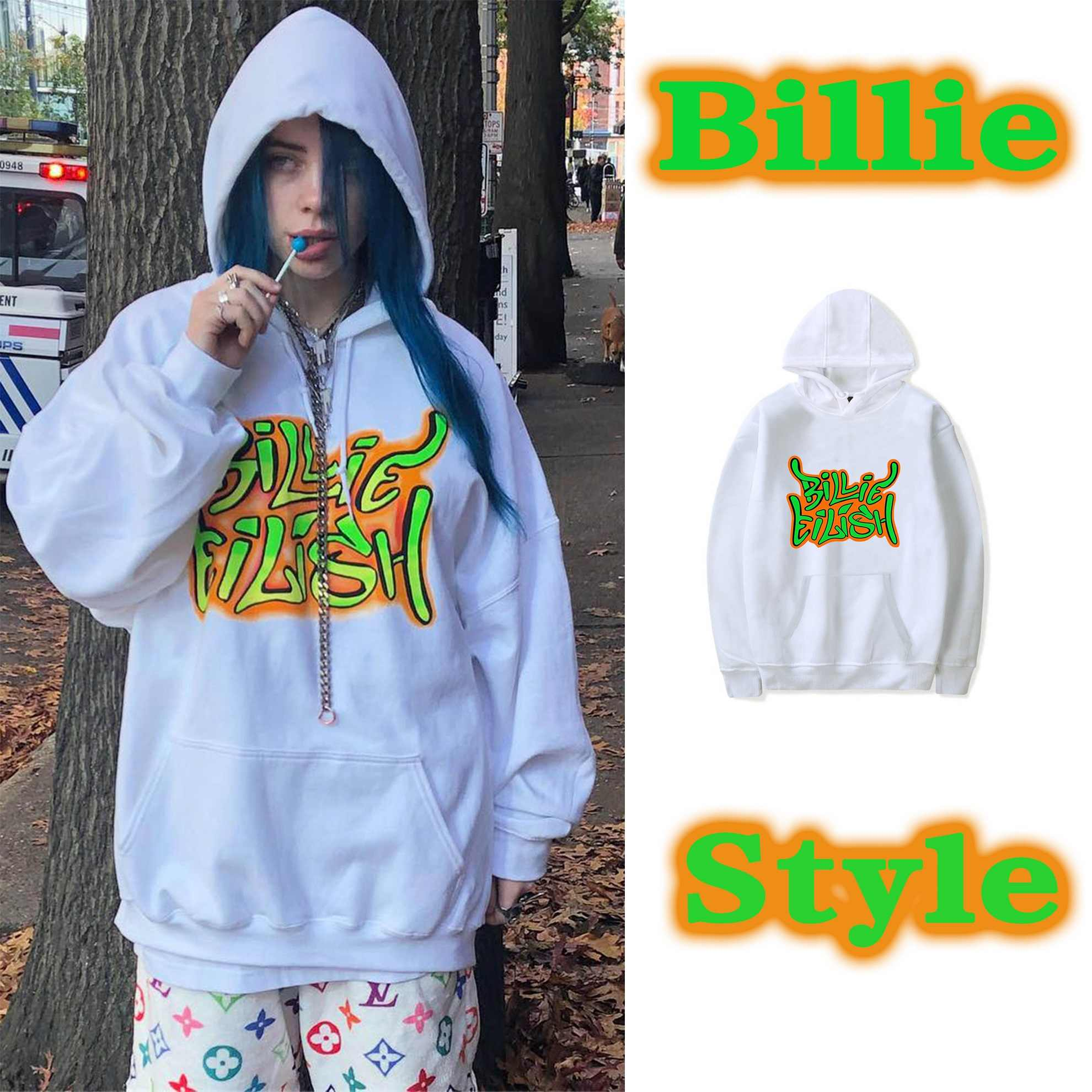 Billie Eilish hoodie streetwear hiphop summer shirt cotton high quality street clothing men and women