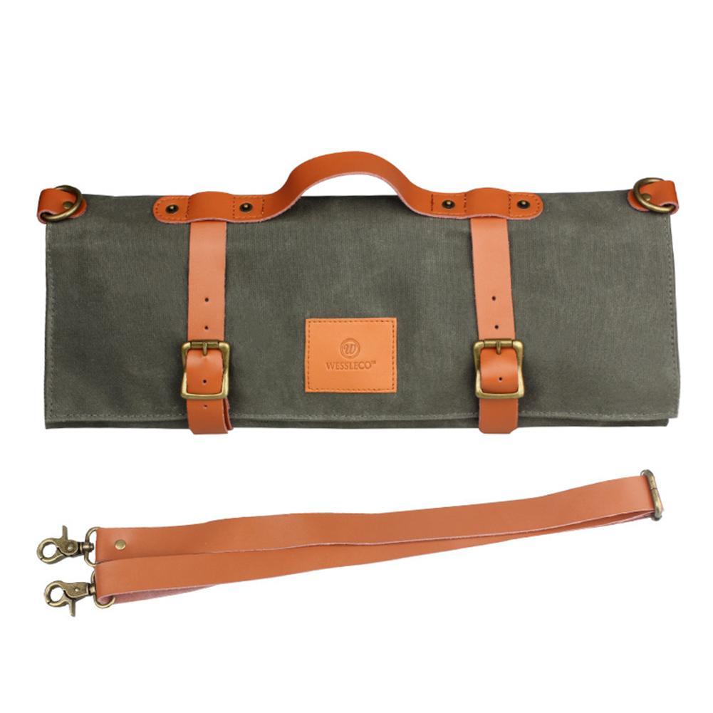 Новейший поварской нож сумка в рулоне Водонепроницаемая холщовая большая сумка для хранения еды в западном стиле # BO