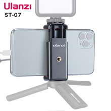 Suporte de celular para vlogs ulanzi ST 07, sapato frio extensor para vlog com luz de led, tripé
