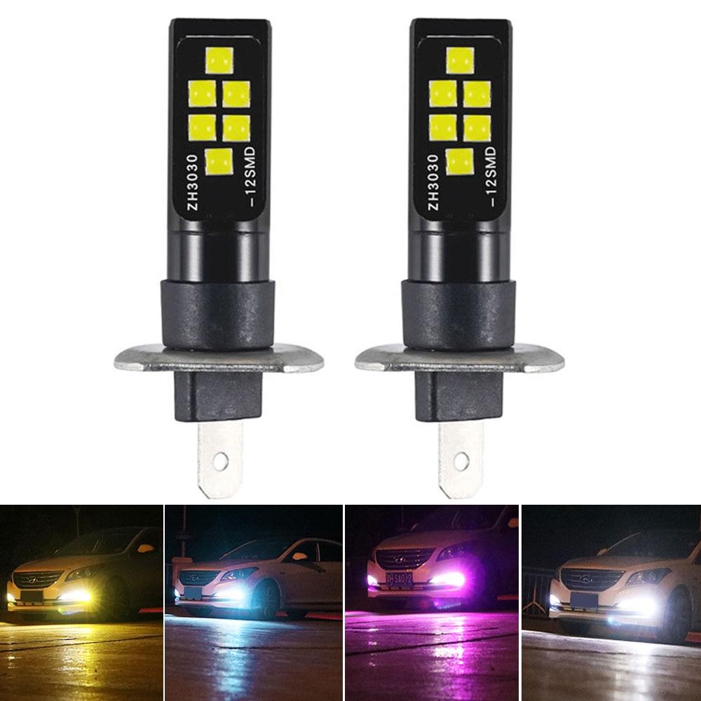 4Pcs Universal H7 3014 57 SMD LED Bulbs Car DRL Driving Fog Light Foglamp White