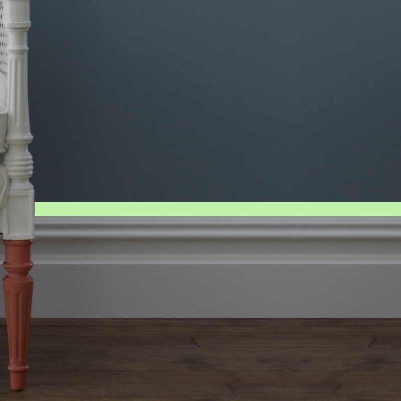 빛나는 밴드베이스 보드 벽 스티커 거실 침실 에코-친화적 인 홈 인테리어 데칼 글로우 어둠 속에서 DIY 스트립 스티커