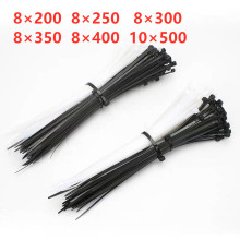 Self-Locking Plastic Cable-Wire Organiser Fasten Nylon-Tie White/black 30pcs/Bag