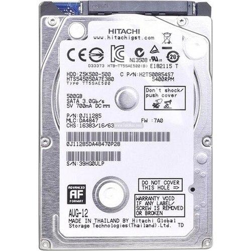 "Hitachi 500 GB 2.5 ""5400RPM Hard Disk (HGSTZ5K500) 1"