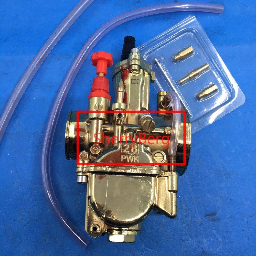 Golden color 28mm PWK Carburetor for 2T ATV Quads Dinli AEON Apex Polaris carb  performance racing carburttor carby