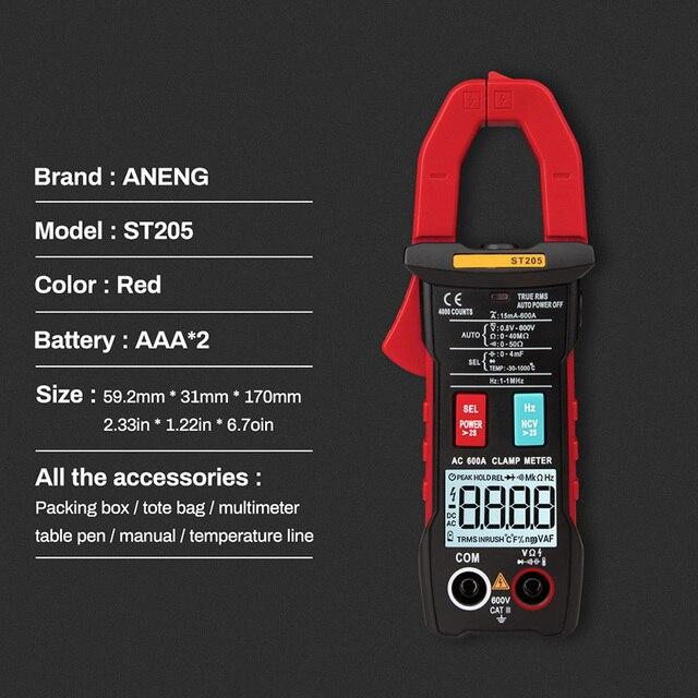 Pince mètre 4000 compte entièrement Intelligent gamme automatique vrai RMS numérique multimètre pince mètre S7 #5