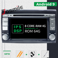 IPS DSP 4G RAM Android 9 Car DVD player For Fiat/Bravo 2007 2008 2009 2010 2011 2012 Radio GPS Navigation Tpms Rear camera DVR