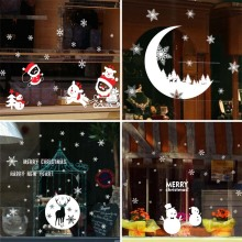 Removable Christmas Window Sticker Santa Claus Decoration For Home Xmas Decor Merry 2019 Happy New Year 2020