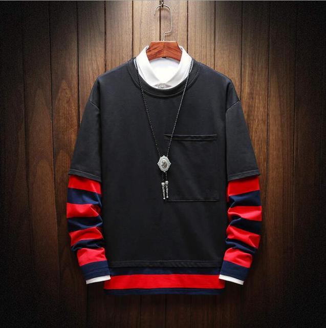2019 New  autumn winter casual round neck hoodies  of clothing men sportwear fleece sweatshirts pullovers Free Shipping 1