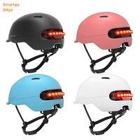 Smart4u SH50 사이클링 자전거 자전거 Brompton 자전거 자전거에 대 한 초경량 라이트 헬멧 자동 LED 스마트 플래시 라이트 헬멧
