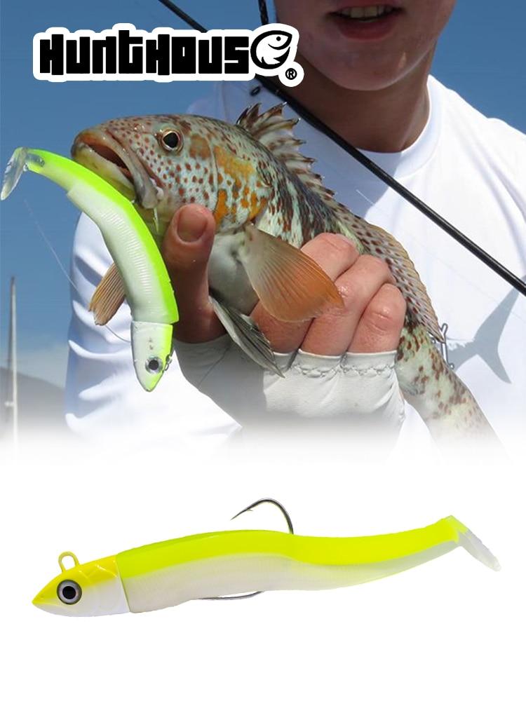 Black Minnow Bait-Bass Lead Jig Fishing-Lure Leurre Souple Hunthouse 85mm/12g 100mm/25easy