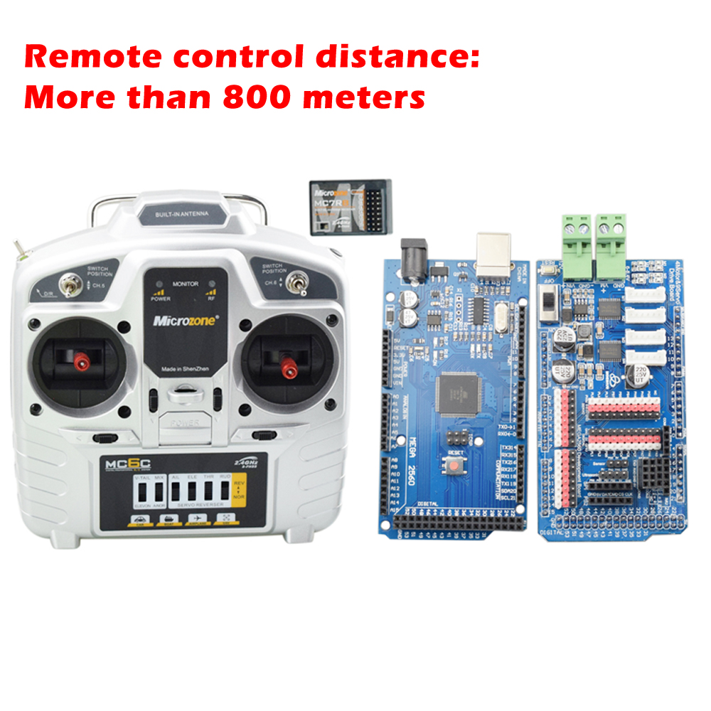 800m Long Distance Arduino Remote Control Wireless Robot Kit 6-channel Smart Mecanum Wheel Car Controller Parts