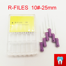 6pcs 10# 21mm Dental Protaper Files Reamers Root Canal Dentist Materials Dentistry Instruments Hand Use Stainless Steel R