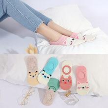 10 шт = 5 пар/лот; Женские носки со скрытым изображением животных;