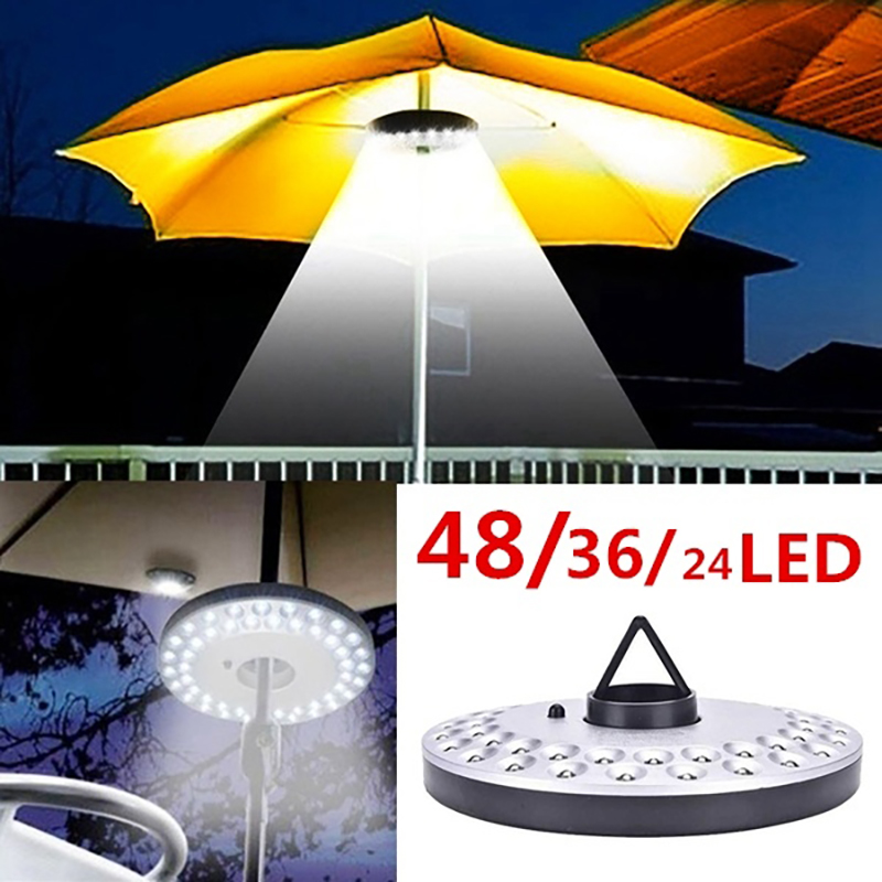 Durable Portable Pole Light 48/36/24 Led Bulb Outdoor Garden Yard Lawn Night Lights Lantern Poles Umbrella Light