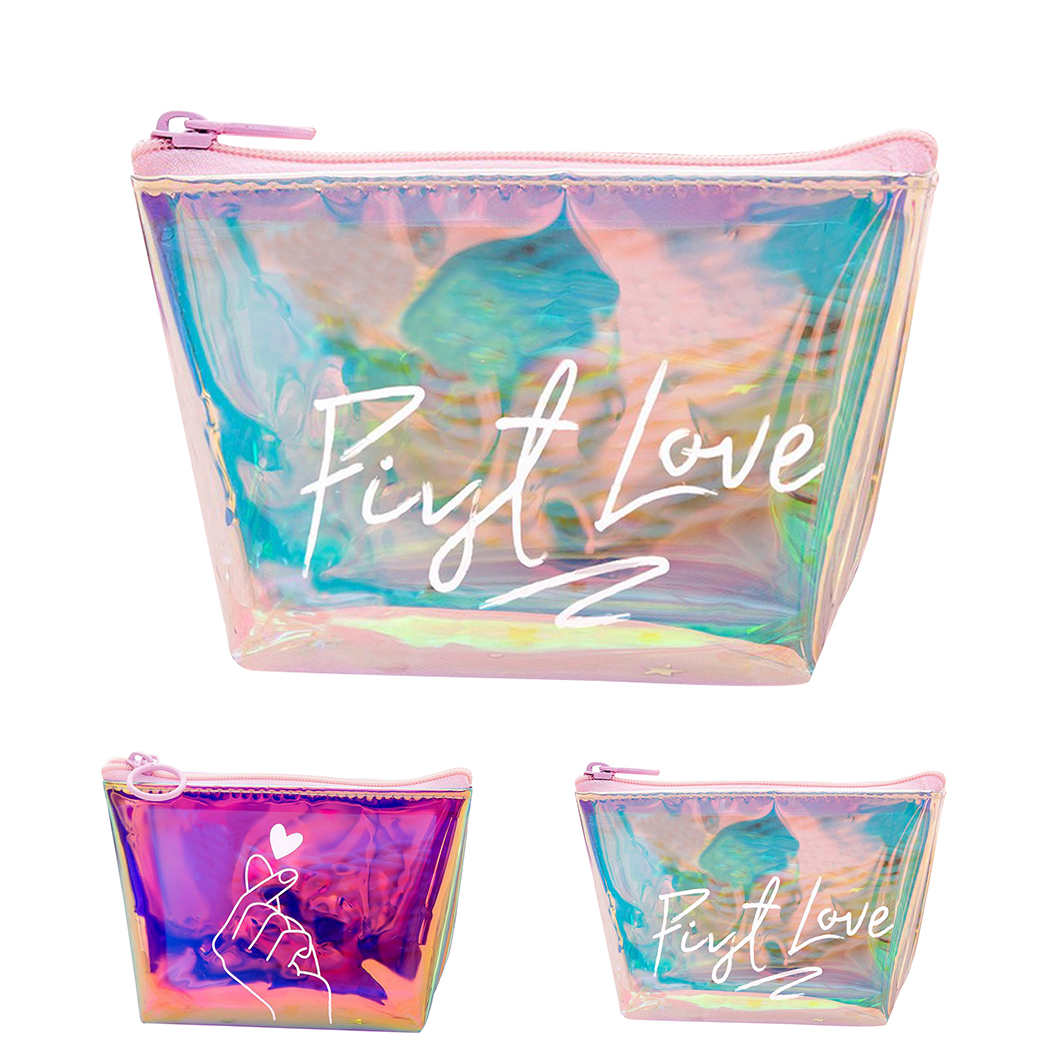 Holographic Coin Purse Women Small Wallet Female Change Purses Mini Children's Pocket Wallets Key Card Holder PVC Hand Bags
