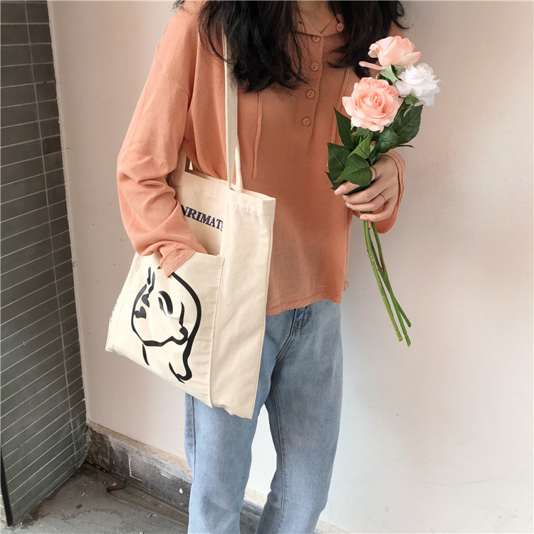 Lovely Tutorial Bags For Young People Shopping Bag Children's Shoulder Bag School Supplies Kawaii Gift Stationery