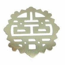 Scrapbooking Metal Flatback for DIY 54mm Dia. Yellow 1PC Embellishments Wraps Cabochon