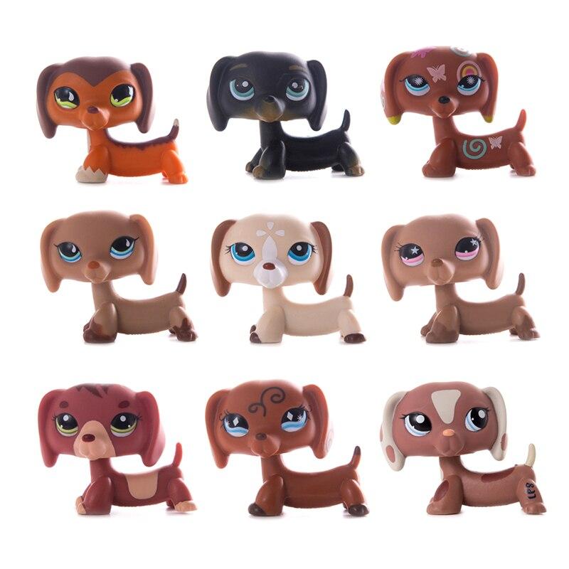 Figuras de acción de perro salchicha, tienda de mascota pequeña Original, juguete de modelos de muñecas, regalo para niños