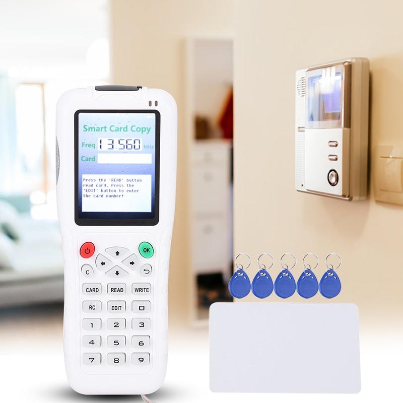 Handheld 100Khz-13.56MHZ Copier Duplicator Cloner RFID NFC IC Card Reader & Writer + 5pcs ID Tags +5 Pcs 13.56MHZ Cards
