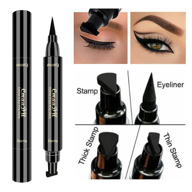 Cmaadu Waterproof Eyeliner Eye Black Makeup Pen Multi-function Double Head Anti-stun Seal Seal Eyeliner Tattoo Tool TSLM2 4