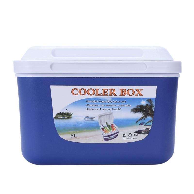 Spor ve Eğlence'ten Balıkçılık Araçları'de 5L araba yalıtım kutusu açık araç buzdolabı buz organizatör tıp koruma kutusu ev barbekü olta takım kutusu title=