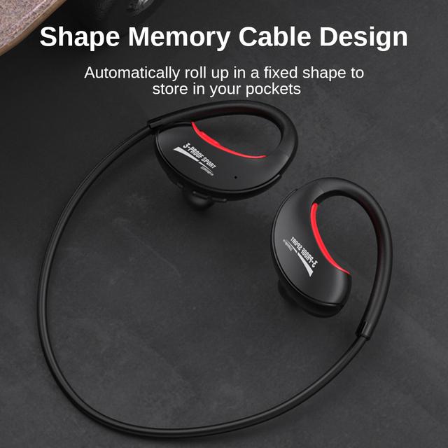 DACOM G34 Bluetooth Headphones Sweatproof Wireless Earphones IPX5 Waterproof Sports Running Headsets for Samsung iPhone Huawei