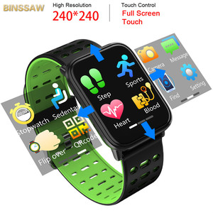 Image 3 - BINSSAW 2020 New T6 Smart Watch Fitness Tracke Band IP68 Waterproof Smart watch Men Women Clock for iPhone IOS  Android Phone