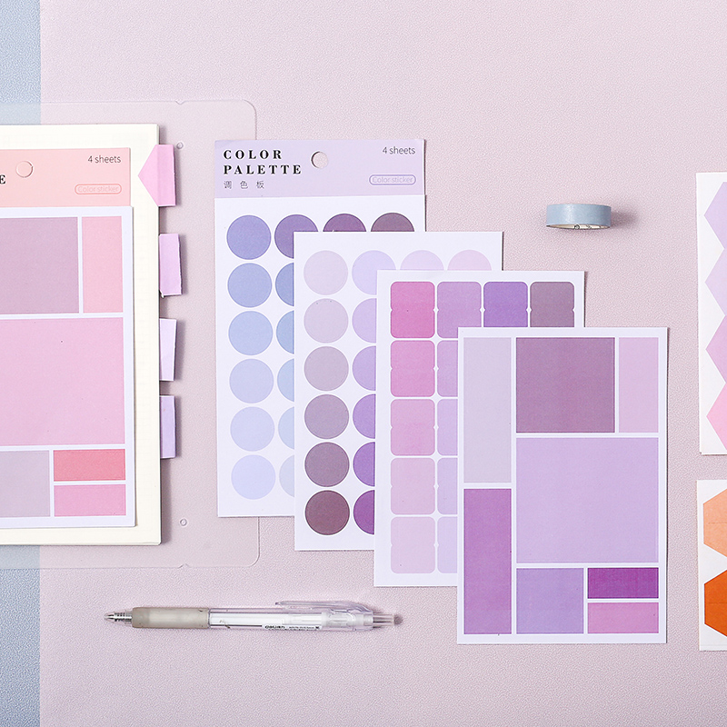 Morandi Color System Diary Personalized Stickers Index Polka Dot Stickers Ins Wind Stationery DIY Stickers School Office Supply