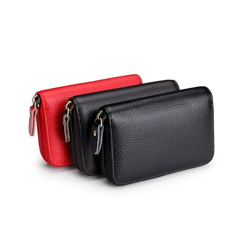 Мужской женский кошелек из натуральной кожи, ID, кредитный держатель для карт, кошельки, мужской маленький кошелек для монет, женская сумка