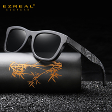 EZREAL Wooden Male Sunglasses Mens Luxury Brand Designer Polarized Sun Glasses Vintage Sunglass Women Eyewear With Round Box