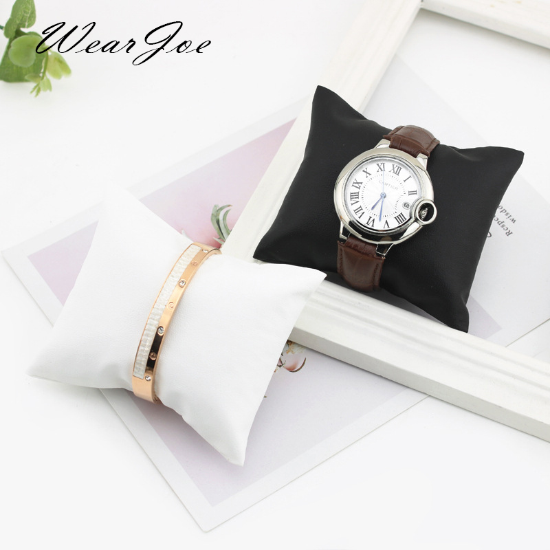 Wholesale Quality Leatherette Bracelet Bangle Pillow Stand Holder Chain Jewelry Display Showcase Watch Cushion Pillows For Box