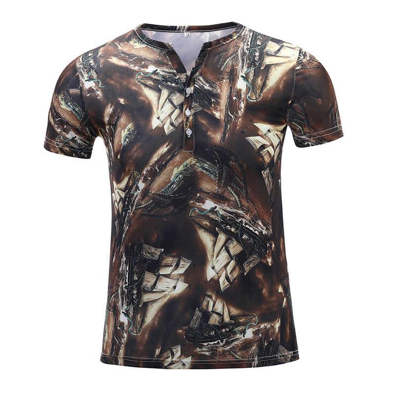 T חולצה גברים חלב משי קיץ קצר שרוול חולצת טי גברים 2020 מכירת Camisetas Hombre 3D דפוס הדפסה מקרית Slim Fit בגדים