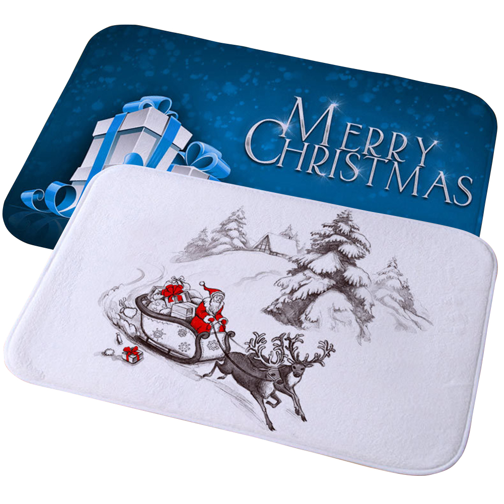 Home Wear Resistant Bedroom Rug Carpet Floor Mat Anti Fade Non Slip Christmas Bathroom Printing Water Absorb Soft Dining Room