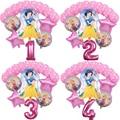 16 шт./лот принцесса воздушные шары Globos 32 дюймов номер Baby Shower фольги Воздушные шары на день рождения вечерние украшения детские игрушки для д...