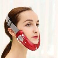 Cara Chin V-ascensor Correa Control remoto LED Photon EMS Dispositivo de Lifting Facial adelgazamiento Facial vibración masajeador