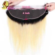 Facebeaut-cheveux péruviens naturels Remy | Cheveux lisses, 1B 613, 13x4, Lace Frontal Closure, nœuds décolorés, racines noires, naissance des cheveux naturelle