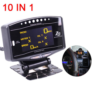 Image 5 - Full Kit Sports Package 10 in 1 BF CR C2  ZD Link Meter Digital Auto Gauge With Electronic Sensors Water Temp Volts