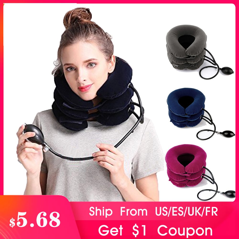 3 Layer Air Cervical Inflatable Neck Therapy Traction Device Pain Relief Manual Joint Health Care Massager(China)