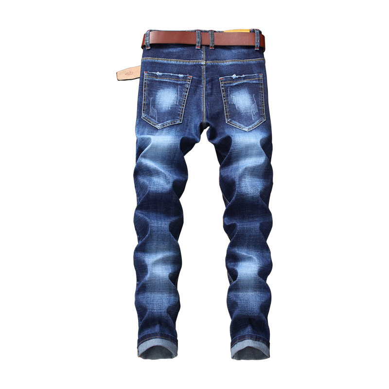 Brand New Mens Slim Fit Skinny Jeans Vintage Floral Embroidery Casual Trousers Big Size Streetwear Biker Denim Jean Pencil Pants